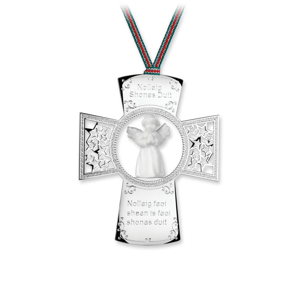 newbridge silverware cross with angel ornament sp9004