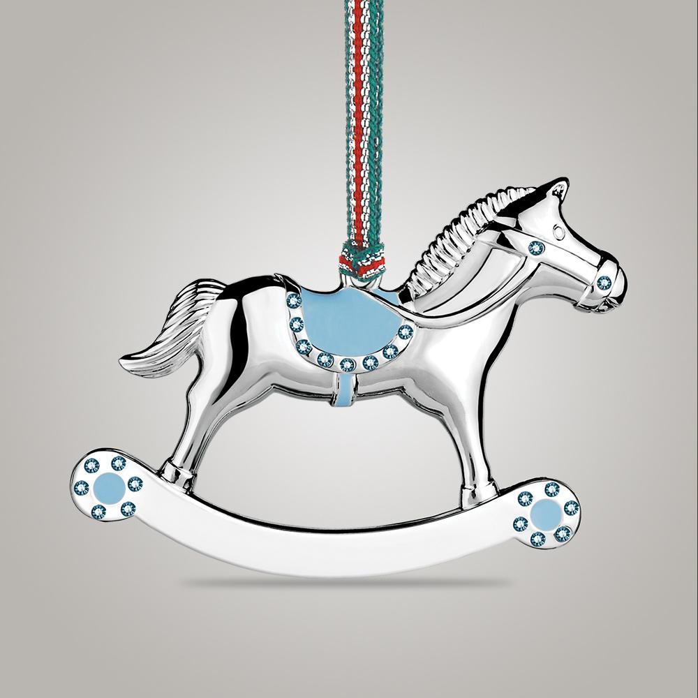 Newbridge Silverware Rocking Horse Boy Decoration - WY9043