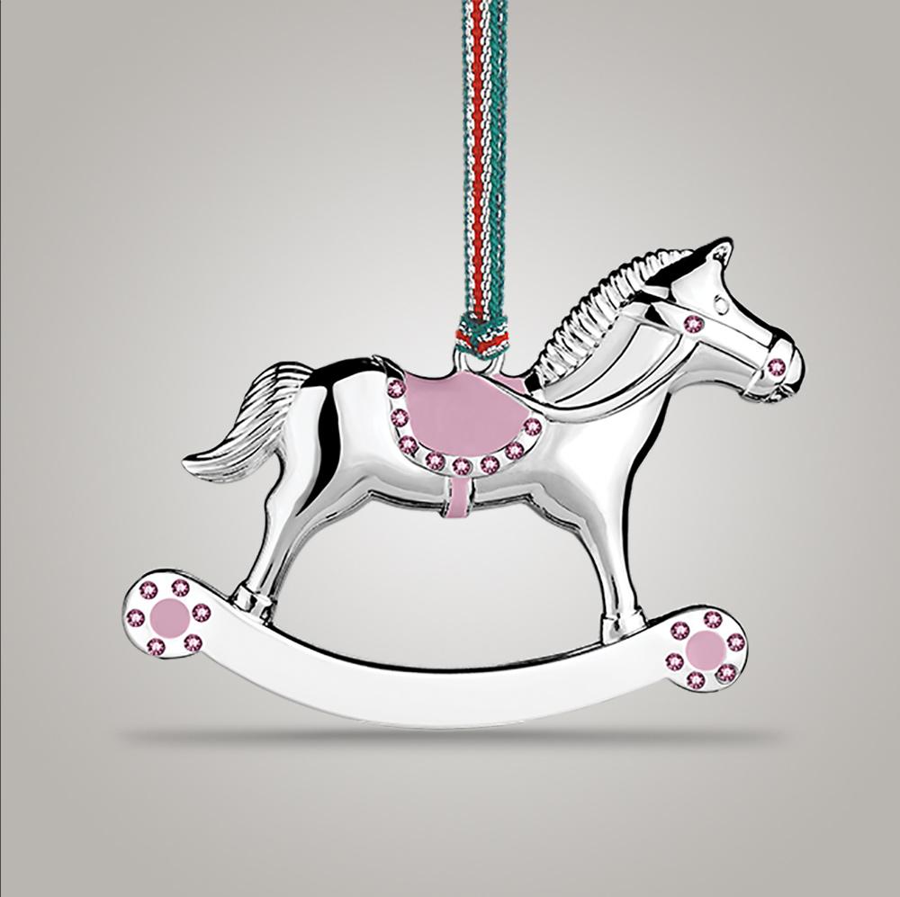 Newbridge Silverware Rocking Horse Girl Decoration - WY9044
