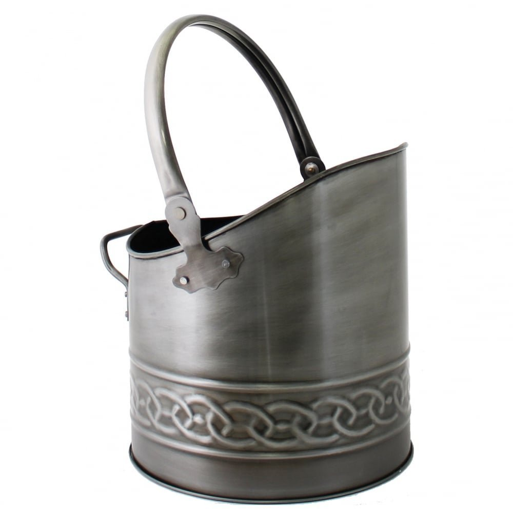 coal bucket pewter