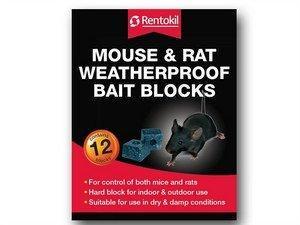 Rentokil Mouse and Rat Weatherproof Bait Blocks
