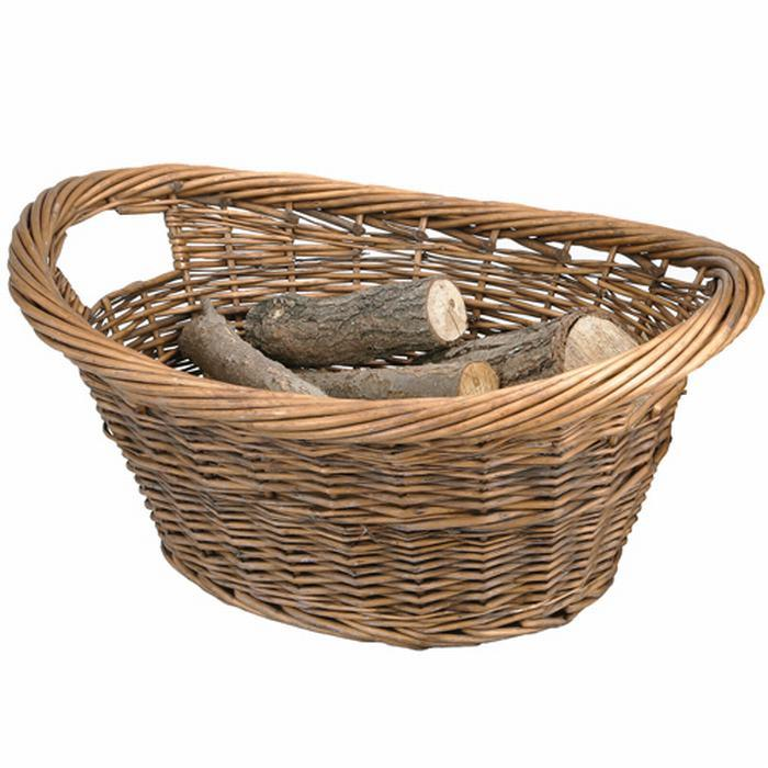 Manor Willow Cradle Log Basket