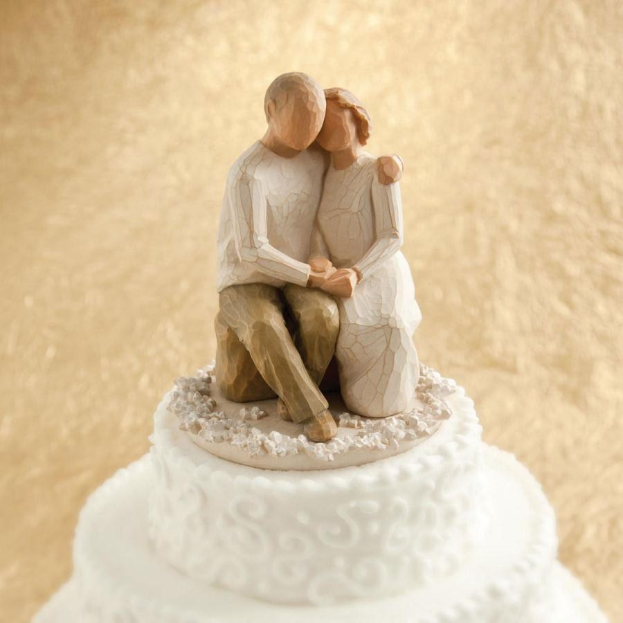Willow Tree Anniversary Cake Topper Figurine - 1