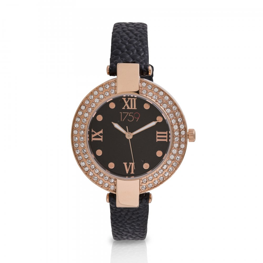 Guinness Ladies Watch Black Strap
