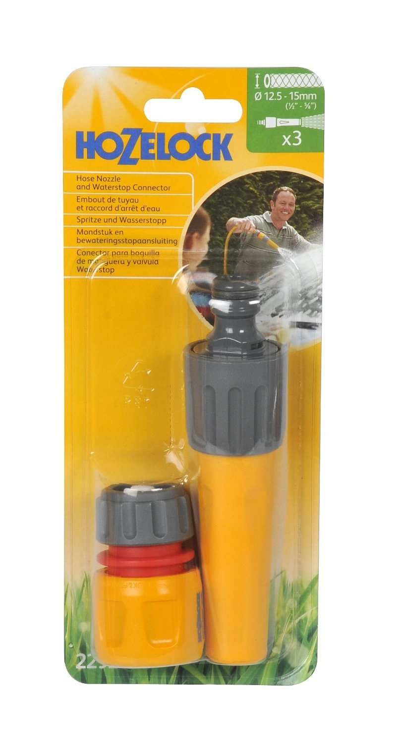 Hozelock Hose Nozzle and Waterstop Connector 2292